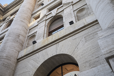 Milan, Italy - December 05, 2017 : View of Palazzo della Borsa Editorial