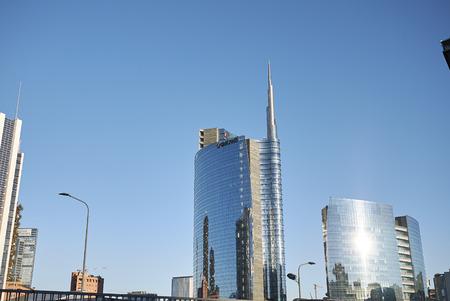 Milan, Italy - December 17, 2017 : Porta Nuova skyscrapers