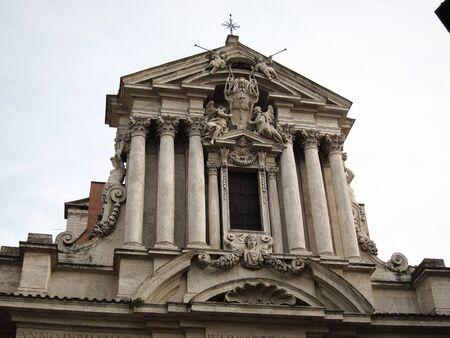 Rome, Italy - February 2, 2011 : Basilica of saint Vincenzo and saint Anastasio Editorial