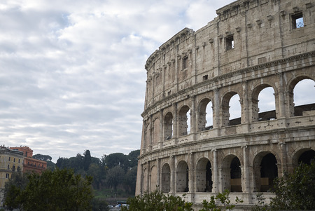Rome, italy - November 21, 2017 : View of the Coloseum