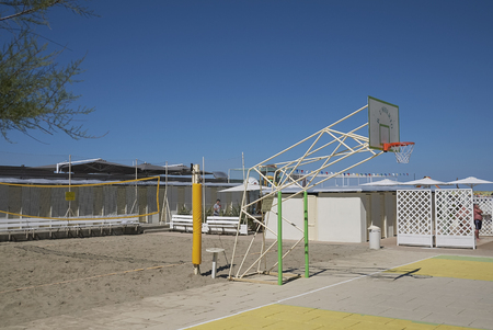 Milano Marittima, Italy - July 16, 2017 : Basketball playground