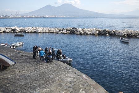 Scuba divers in Naples