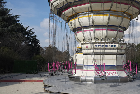 Milan, Italy - February 09, 2017 : Amusement park in Milan Editoriali