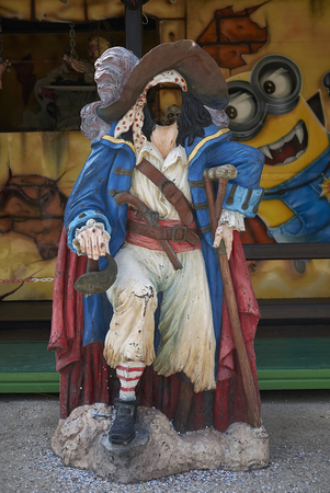 Milan, Italy - February 09, 2017 : Cutout Board Amusement park in Milan