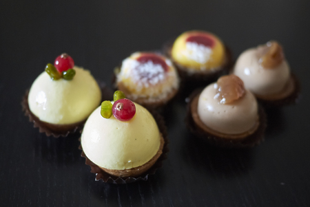 Assorted luxury patisserie