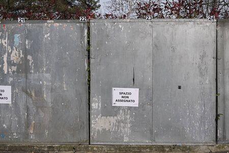 Milano, Italy - February 21, 2018 : Empty space for election adv Stock Photo