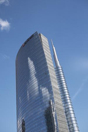 Milan, Italy - March 09, 2018: View of Porta Nuova skyscrapers