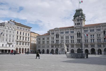 Trieste, Italy: View of Piazza Unita di Italia