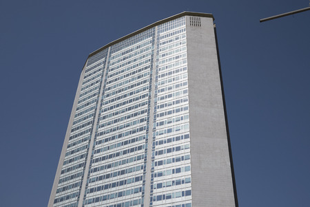 Milan, Italy - April 17, 2018 : View of the Pirellone skyscraper Editorial