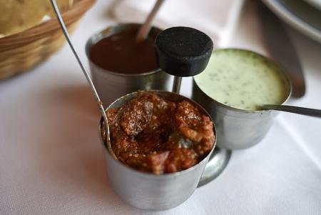 Papadum dipping sauces