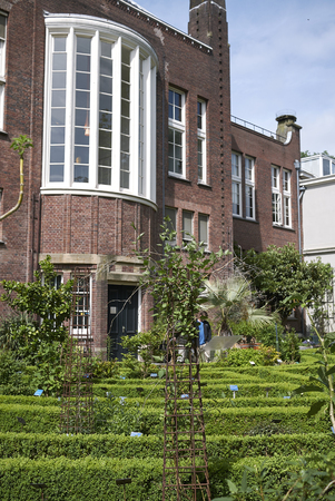 Amsterdam, Netherlands - May 17, 2018: View of amsterdam botanical garden