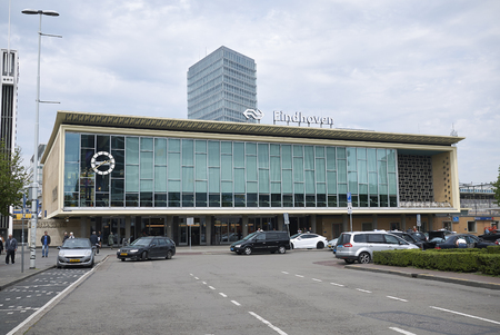 Eindhoven, Netherlands - May 16, 2018 : Eindhoven main railway station