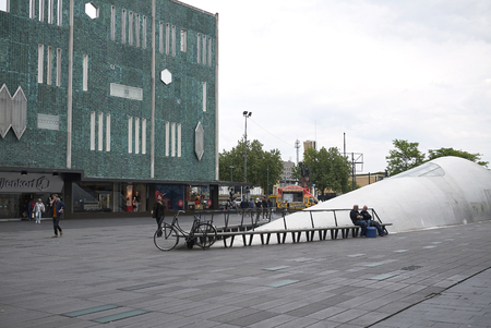 Eindhoven, Netherlands - May 16, 2018 : View of 18 Septemberplein buiding