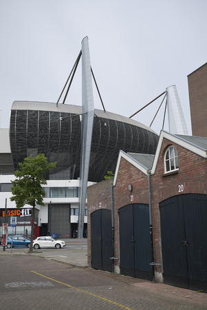 Eindhoven, Netherlands - May 16, 2018 : View of Philips stadion in Eindhoven