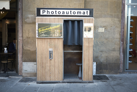 Firenze, Italy - June 21, 2018 : Photoautomat in Florence
