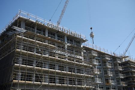 Construction site in Hackney Wick