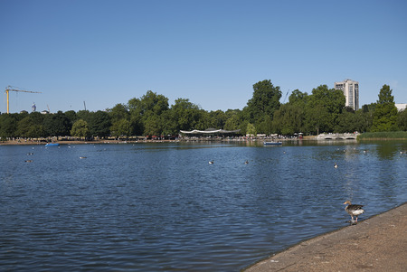 View of the Serpentine in Hyde Park Stock Photo