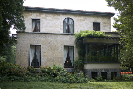 Milan, Italie - 12 juillet 2018: Vue de la Villa Necchi Campiglio par Piero Portaluppi