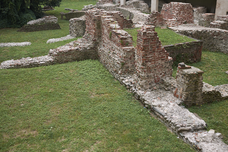 Milan, Italy: View of Palazzo Imperiale di Massimiano ruins