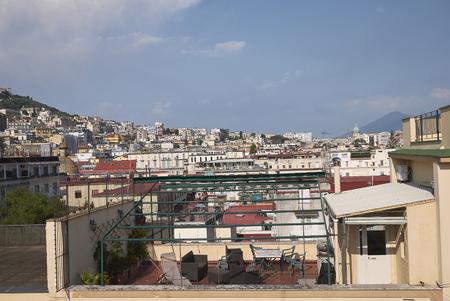 Naples, Italy - July 25, 2018 : View of Naples Redakční