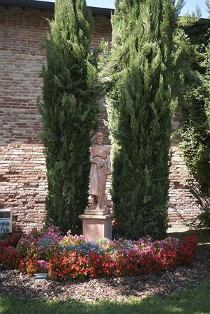 Torre salt storehouse garden (Magazzini del sale) Archivio Fotografico