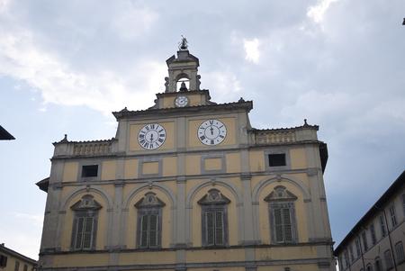 Citta di Castello, Italy - August 23, 2018 : View of Palazzo del Podesta Sajtókép