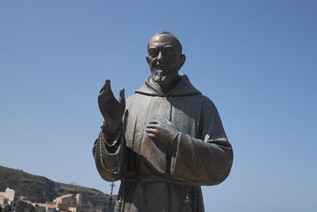 Castellammare del Golfo, Italy - September 04, 2018 : Padre Pio monument