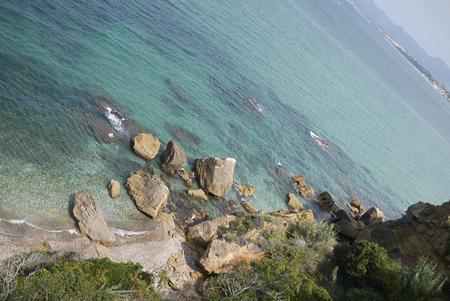 View of the sea coastine in Castellammare