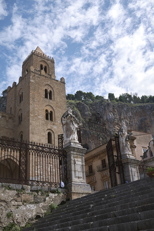 View of the Cathedral of Cefalu