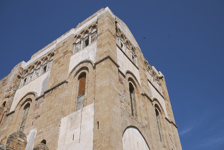 Cefalu, Italy: Side view of the Cathedral of Cefalu
