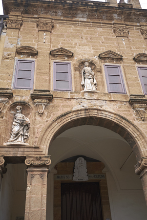 Cefalu, Italy - September 09, 2018: View of Church of Maria Santissima della Catena