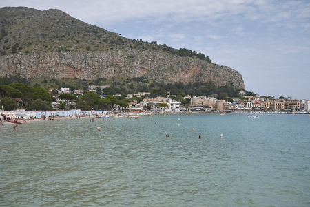 Modello, Italy - September 10, 2018 : View of Mondello