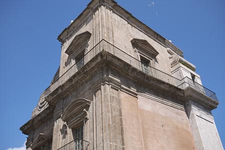 Palermo, Italy - September 08, 2018 : View of Porta Felice gate Stock Photo