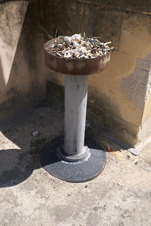 Palermo, Italy - September 08, 2018 : Ashtray