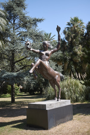 Palermo, Italy - September 11, 2018 : Statue in the garden of Villa malfitano whitaker 写真素材 - 119314784