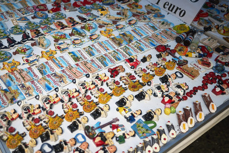 Palermo, Italy - September 07, 2018 : Sicilian magnets 写真素材