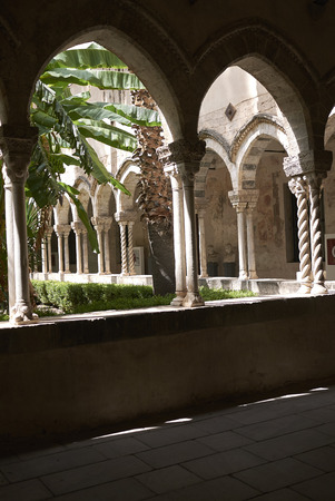 Palermo, Italy - September 07, 2018 : Church of Saint Dominic cloister