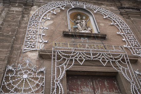 Palermo, Italy - September 07, 2018 : Carmine Maggiore church entrance Imagens