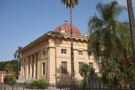 Palermo, Italy - September 06, 2018 : View of the Gymnasium of Palermo Botanical Gardens Zdjęcie Seryjne