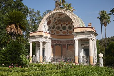Palermo, Italy - September 06, 2018 : View of the north exedra of Villa Giulia Editoriali