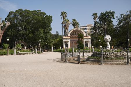 Palermo, Italia - 6 settembre 2018: Vista dell'esedra nord di Villa Giulia