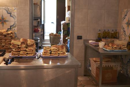 Scopello, Italy - September 01, 2018 : View of a bakery kitchen Sajtókép
