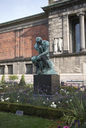 Copenhagen, Denmark - October 09, 2018: View of  Auguste Rodin statue in the rear garden of Ny Carlsberg Glyptotek 報道画像