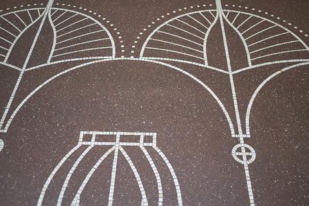 Copenhagen, Denmark - October 09, 2018: View of Ny Carlsberg Glyptotek decorated floor
