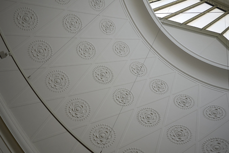 Copenhagen, Denmark - October 09, 2018: View of Ny Carlsberg Glyptotek ceiling 報道画像