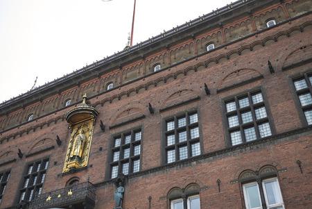 Copenhagen, Denmark - October 09, 2018 : View of Copenhagen city hall Absalon relief