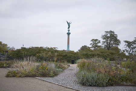 Copenhagen, Denmark - October 09, 2018 : View of the Ivar Huitfeldt Column in Langelinie park