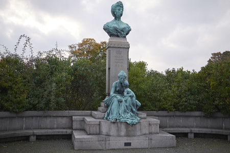 Copenhagen, Denmark - October 09, 2018 : Monument to Princess Marie of orleans