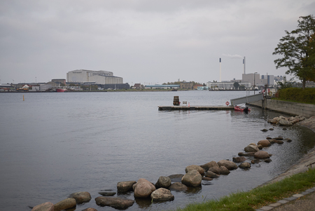 Copenhagen, Denmark - October 09, 2018 : View of the Langelinie promenade