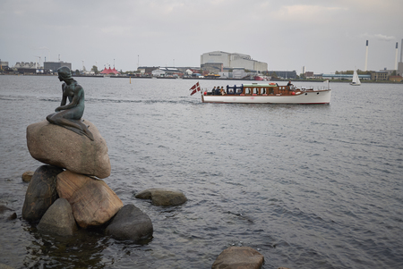 Copenhagen, Denmark - October 09, 2018 : View of The Little Mermaid statue Stock Photo
